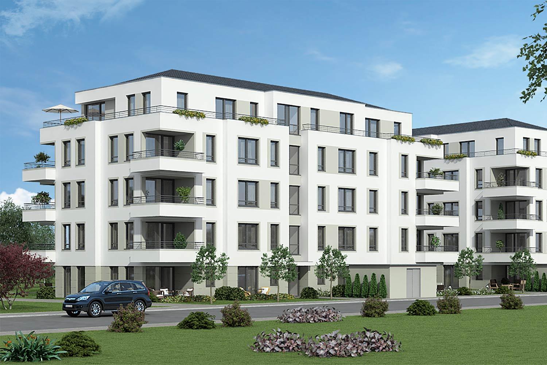 Astounding Moderne Mehrfamilienhäuser Foto Von Zwei Mehrfamilienhäuser Mit Zwei- Drei- Und Vierzimmerwohnungen